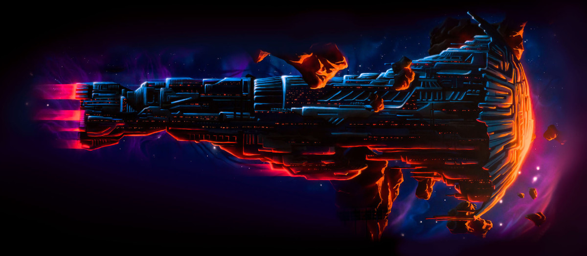 Huge spaceship solo