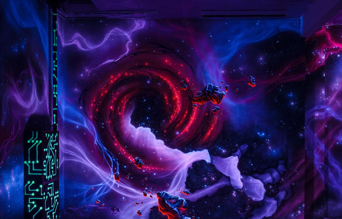 Interstellar red whirl