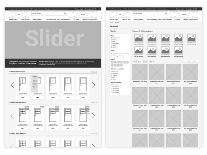 Website design for Vuldi doors store