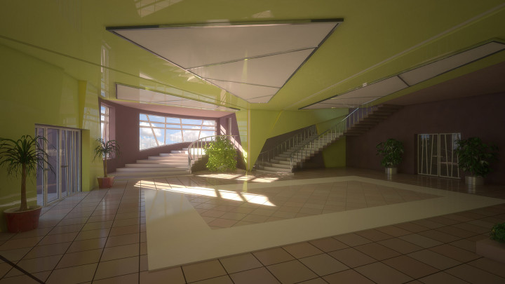 Green interior view #1
