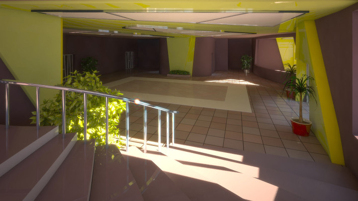 Green interior view #2